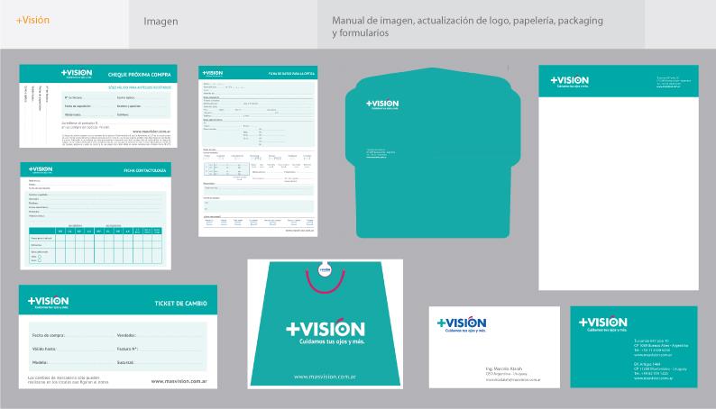 +Visión - Manual de imagen – Papelería